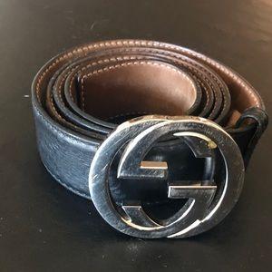 Gucci Belt (Black, Size 44US)